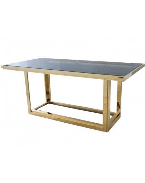 Libra Gatsby Rectangular Gold Dining Table